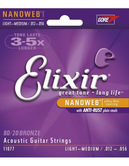 ELIXIR 11077 NANOWEB LIGHT MEDIUM 12-56