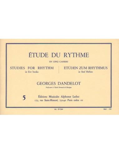 Georges dandelot etude du rythme volume 5 ditions for Etude du sol prix