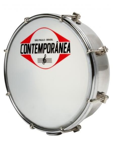 "Contemporânea Tamborim 6"" Métal chromé"