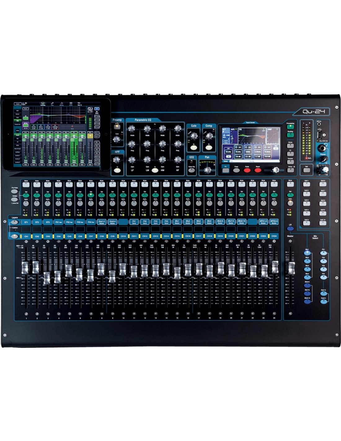 Allen heath qu 24 table de mixage num rique 24 entr es for Table de 24