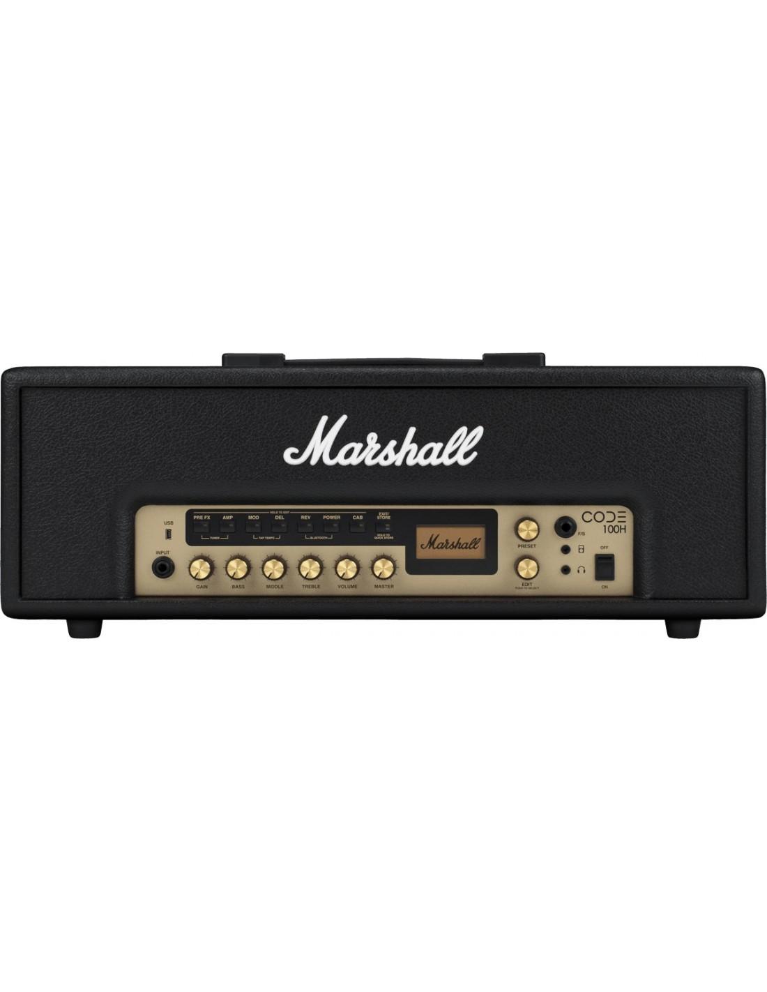 marshall code 100h t te d 39 ampli guitare 100w usb et. Black Bedroom Furniture Sets. Home Design Ideas