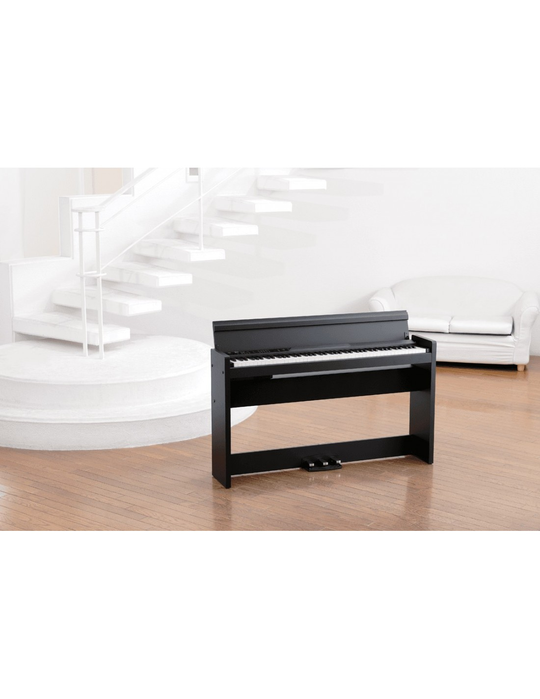 korg lp380 bk piano num rique toucher lourd de couleur. Black Bedroom Furniture Sets. Home Design Ideas