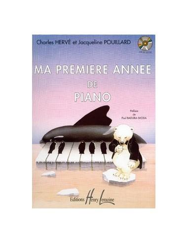 Ma première année de piano HERVE Charles / POUILLARD Jacqueline