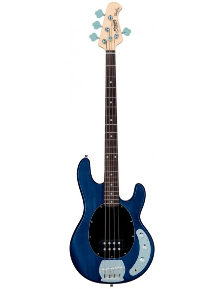 STERLING BY MUSIC MAN STINGRAY TRANSPARENT BLUE SATIN
