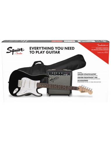 SQUIER PACK STRATOCASTER BLK