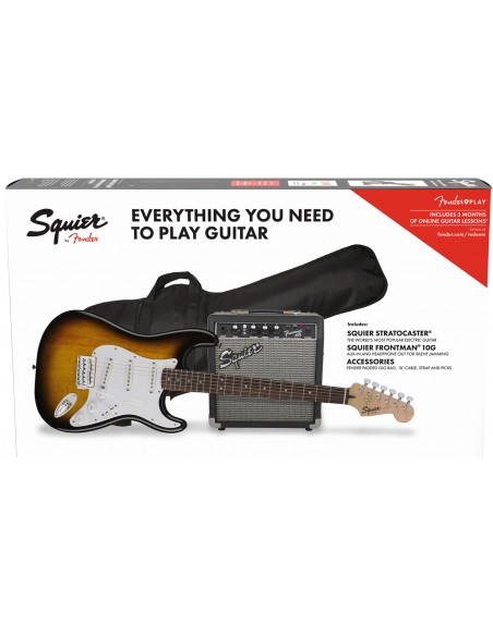 SQUIER PACK GUITARE STRATOCASTER BSB