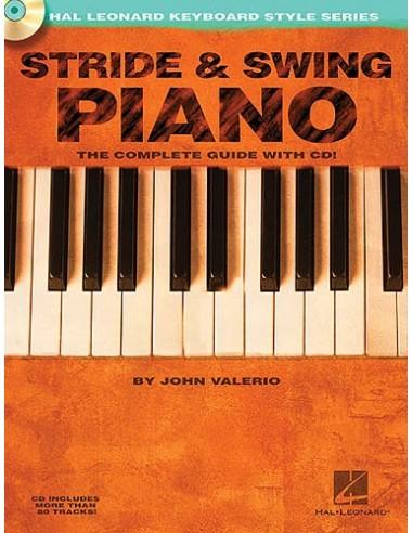HAL LEONARD VALERIO JOHN - STRIDE AND SWING PIANO - PIANO SOLO