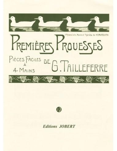 Premières Prouesses - G.Tailleferre - Pièces faciles à 4 mains