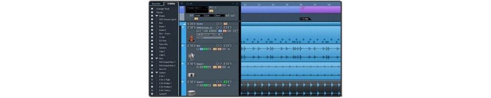 Logiciels d'enregistrement séquenceur cubase studio d'enregistrement audio midi