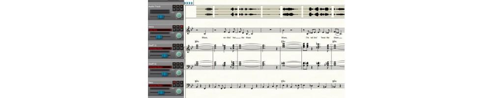 logiciel éditeur de partitions informatique musicale composition et création mao toulon